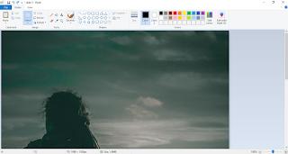 cara memperbesar foto melalui paint