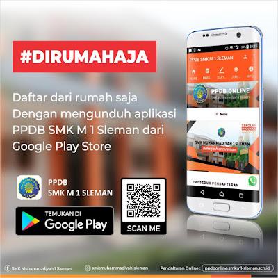 Pendaftaran secara online SMK Muhammadiyah 1 Sleman