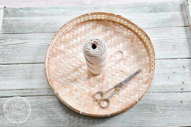 Materialien für eine DIY-Blumenampel