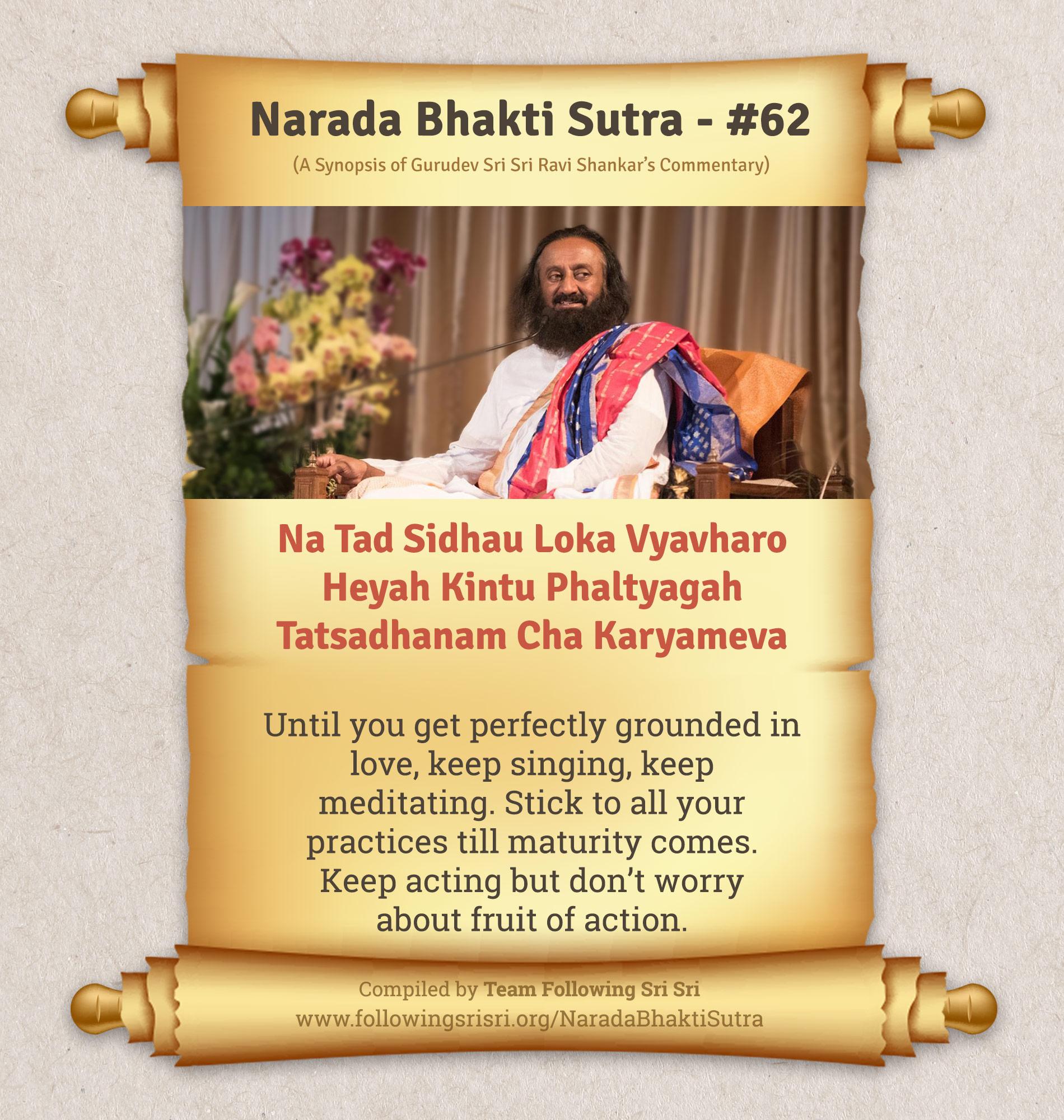 Narada Bhakti Sutras - Sutra 62
