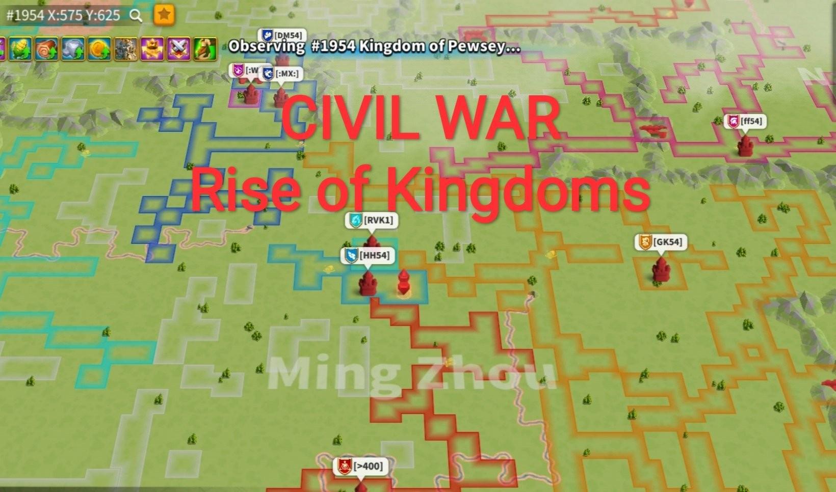civil war rise of kingdoms