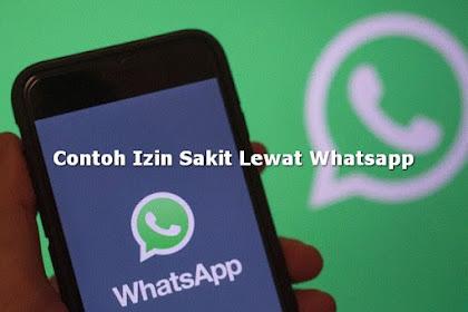 Contoh Izin Sakit Tidak Masuk Kerja Lewat Whatsapp