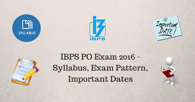 IBPS PO Recruitment Exam 2016