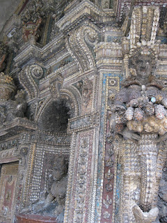 """Shell grotto"" made of Bavarian freshwater shells"