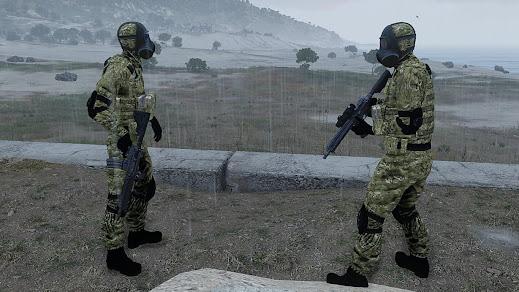 Arma3用汚染化での防護ユニット