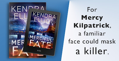 blog tour banner for Kendra Elliot's A MERCIFUL FATE & A Giveaway
