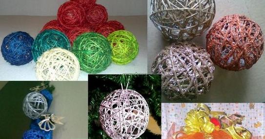 Diy c mo hacer bolas o esferas para navidad decoraci n for Elaboracion de adornos navidenos
