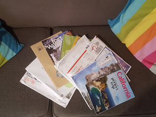 A Stack of Travel Brochures from the USA