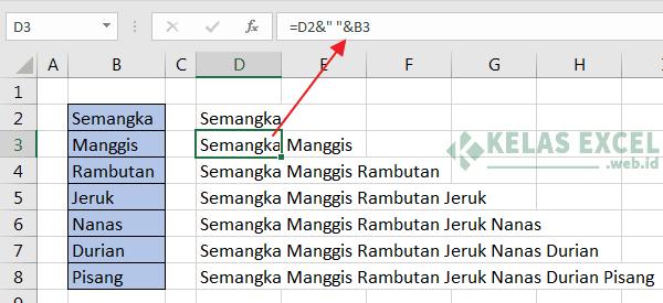 Cara Menggabungkan Kolom Excel