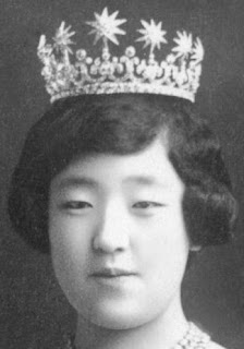 meiji scroll tiara diamond japan empress shoken kojun
