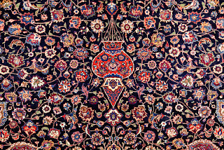 Rug Master Antique Signed Amoghli Mashad Carpet Rug