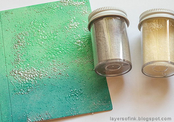 Layers of ink - Heat Embossed Notebook Journal by Anna-Karin. Emboss with Molten Dimensions powder.