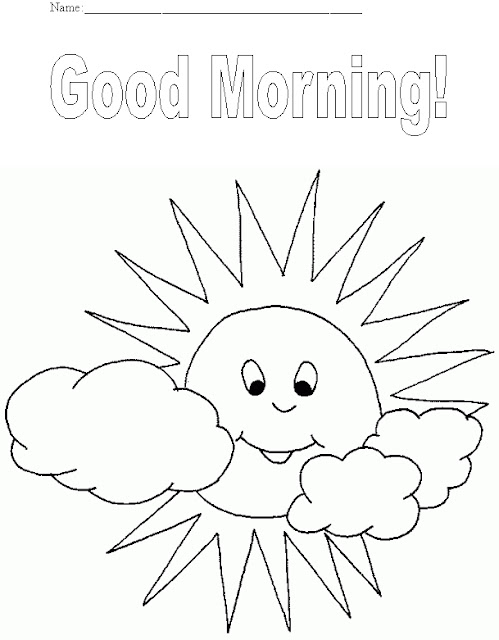 Good Morning Colouring Pages | Coloring Page