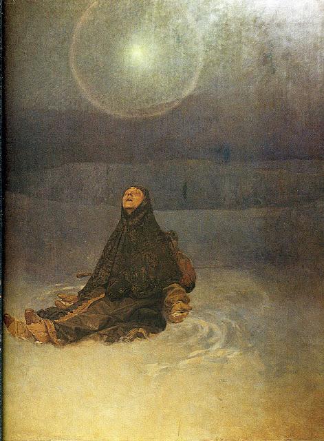 Альфонс Муха - Зимняя ночь. 1920