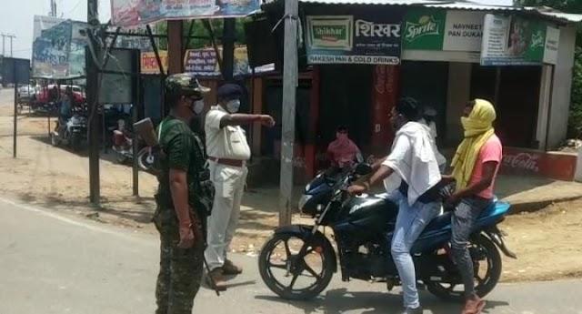 झाझा : कोरोना से बचाव को लेकर बिहार खुदरा विक्रेता संघ ने चलाया रोको-टोको अभियान