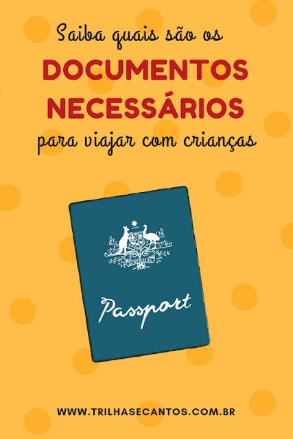 documentos-viagem com criança