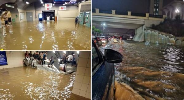 صور وفيديو|  أمطار طوفانية  تتسبب في إغراق شوارع ومساكن بالعاصمة الجزائرية