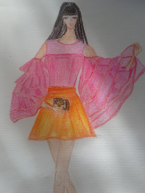 #fashionillustration Inspired by fashionably Idu