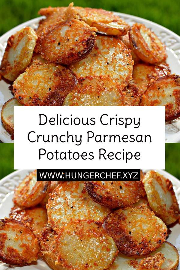 Delicious Crispy Crunchy Parmesan Potatoes Recipe #delicious #crispy #crunchy #parmesan #potatoes #easydish #dish #easyrecipe #appetizers #healthyrecipe #weightwatchers #healthyfood #dinner #maindish