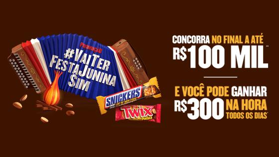 Promoção Vai ter festa junina sim Snickers