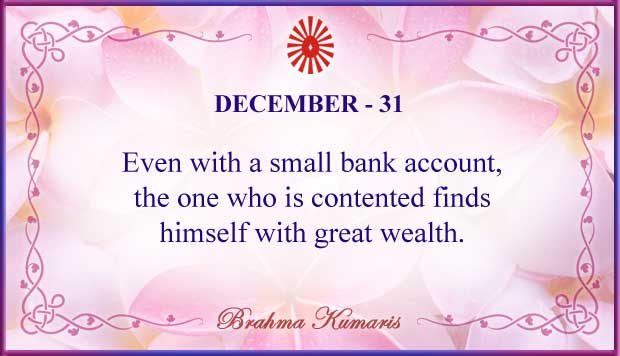 Thought For The Day December 31