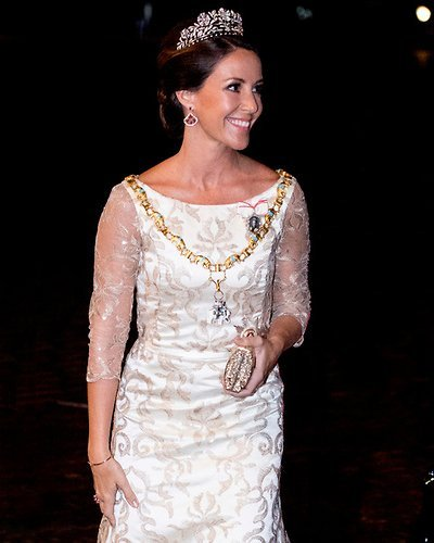 Princess Marie wore Rikke Gudnitz dress and tiara