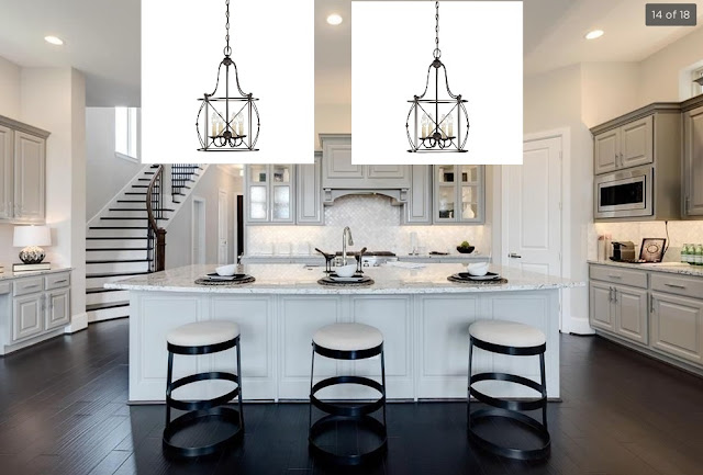 New Home Lighting Options-French Country-Traditional-Kitchen Island-Pendant Lighting-From My Front Porch To Yours