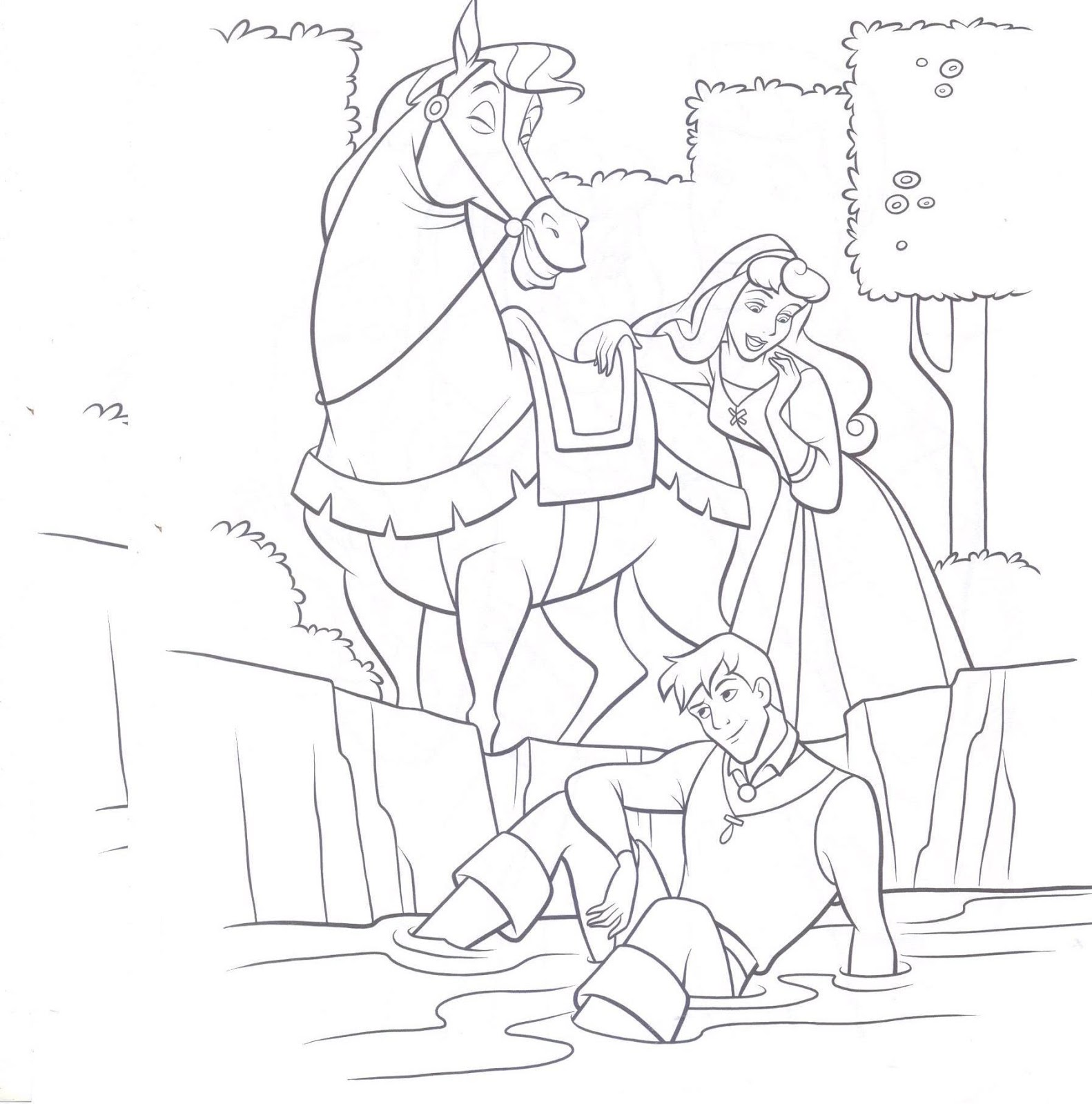 disney prince phillip coloring pages - photo#8