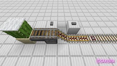 Minecraft トロッコ自動乗降り駅