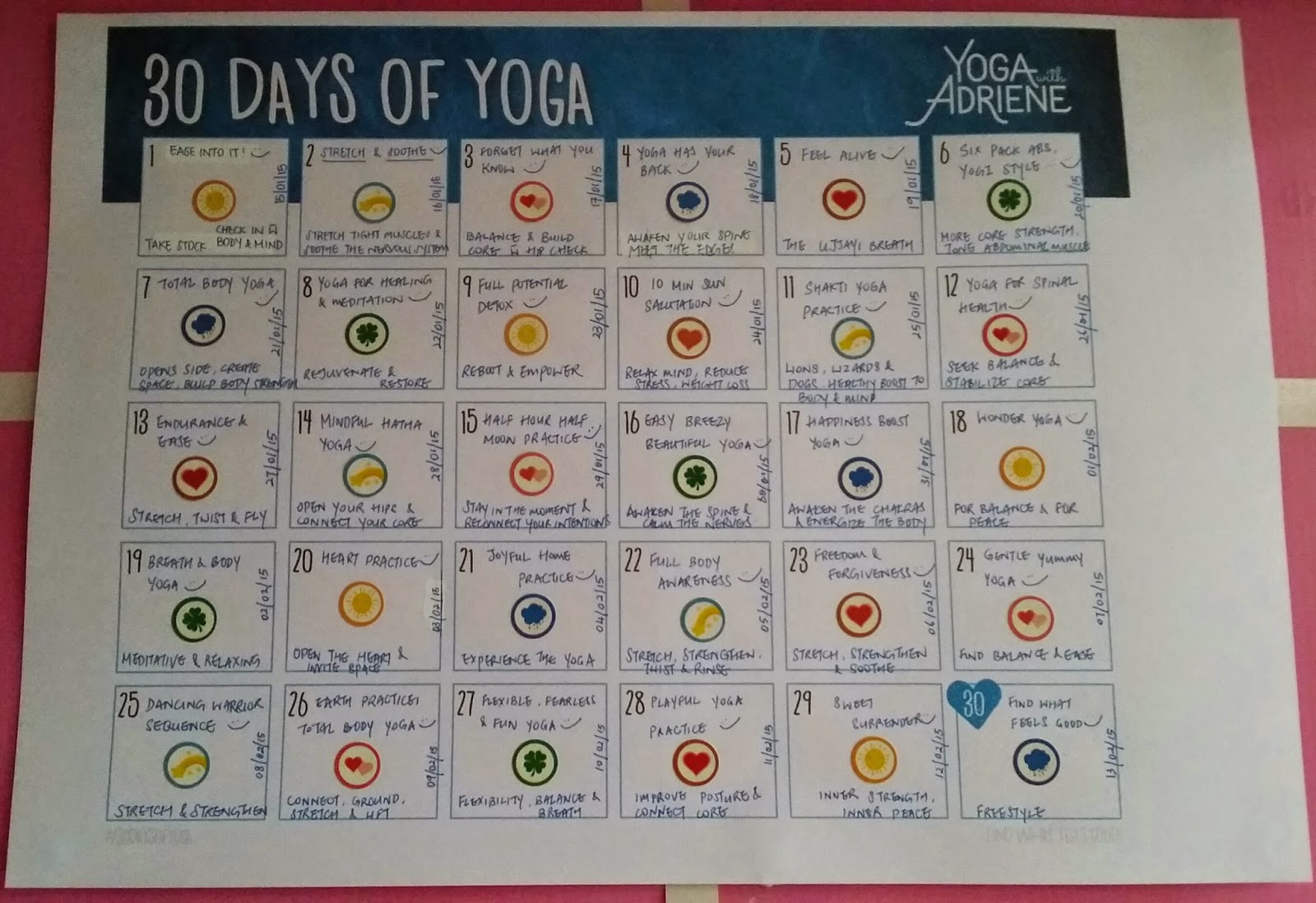 30 days of yoga with Adriene - COMPLETED!