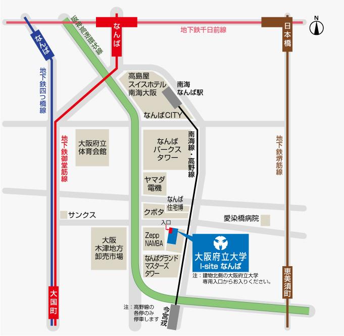I-siteなんば アクセスマップ