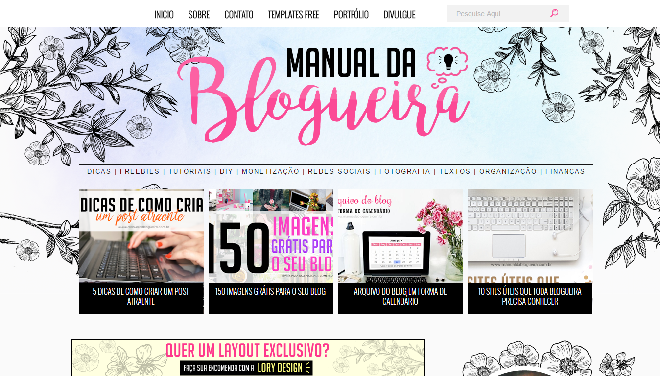blogs que eu adoro; blogs que eu indico; blog manual da blogueira
