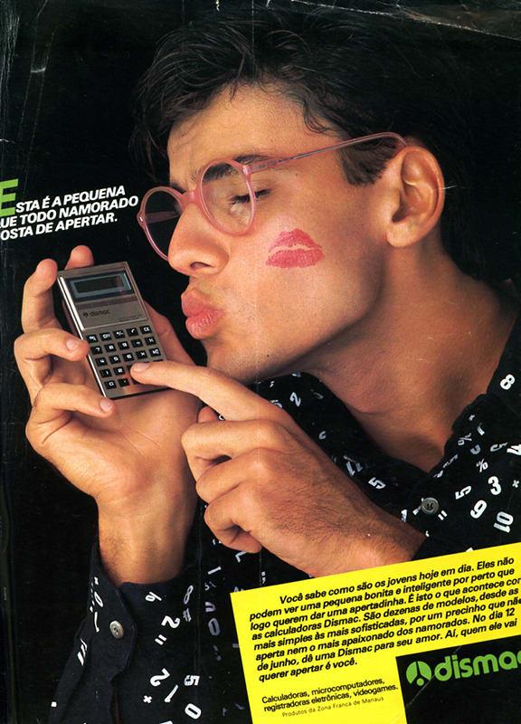 Propaganda antiga da calculadora Dismac veiculada em 1984