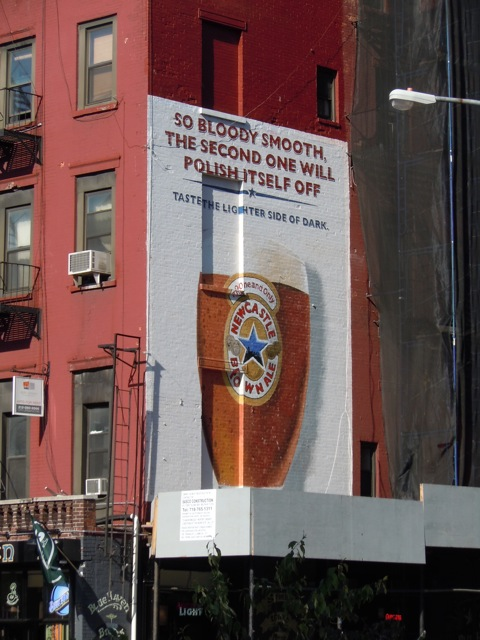 Newcastle Brown Ale billboard NYC