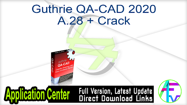 Guthrie QA-CAD 2020 A.28 + Crack