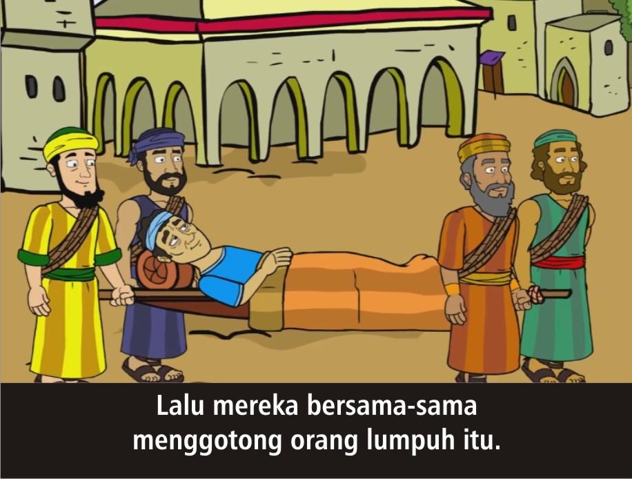 Komik Alkitab Anak: Tuhan Yesus Menyembuhkan Orang Lumpuh