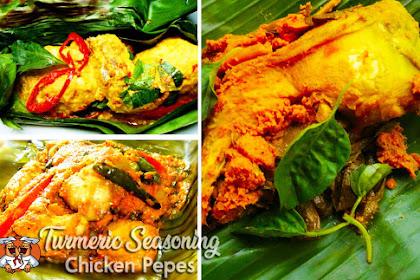 Turmeric seasoned steamed chicken