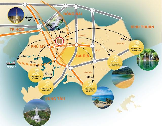Vị trí Đất nền Phú Mỹ Future City