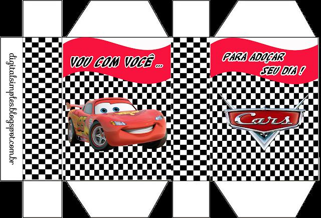 Cajas de Fiestas de Cars  para imprimir gratis.