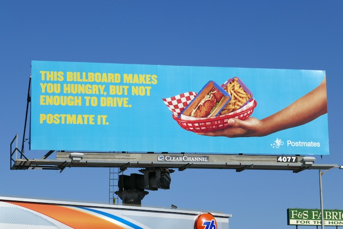 hungry not enough to drive Postmates billboard
