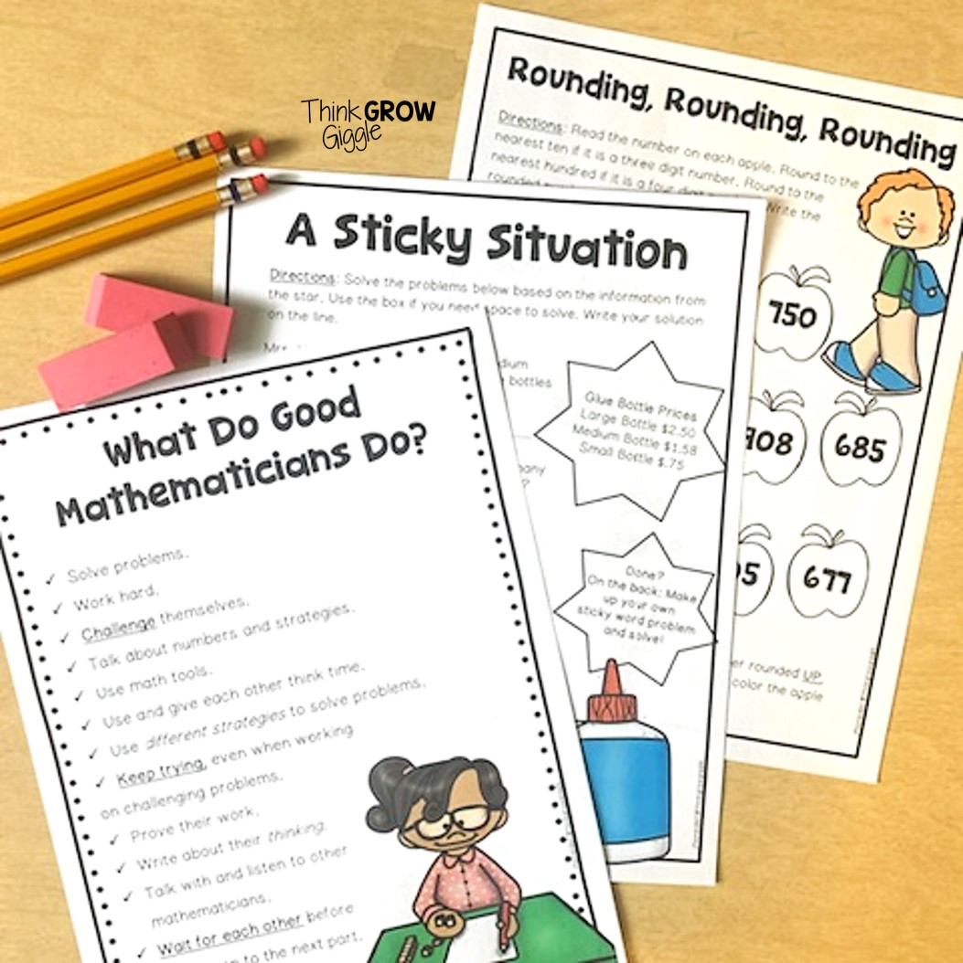 Back to School Math Activities to Get to Know Your Mathematicians - Think  Grow Giggle [ 1054 x 1053 Pixel ]