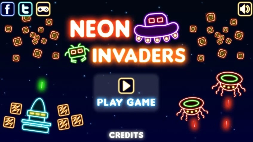 Plays.Org Neon Invaders