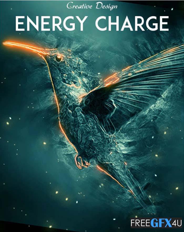 Energy Charge Photoshop Action