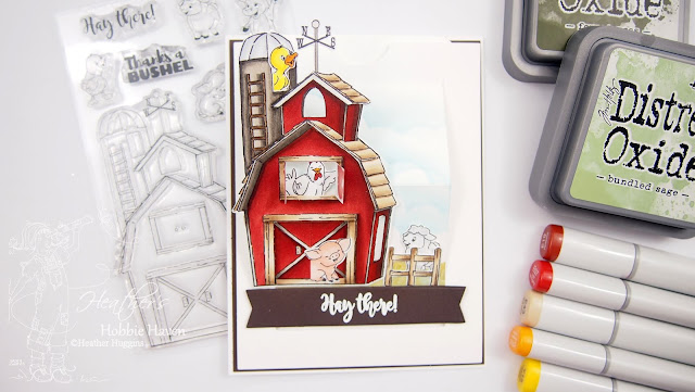 Heather's Hobbie Haven│Art Impressions│Barnyard Animals Cubbies│Copic Markers
