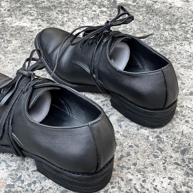 WALKER 322B - GIÀY WALKER DERBY 322 in BLACK