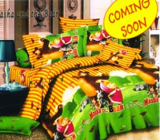 sprei cassamia motif masha and the bear