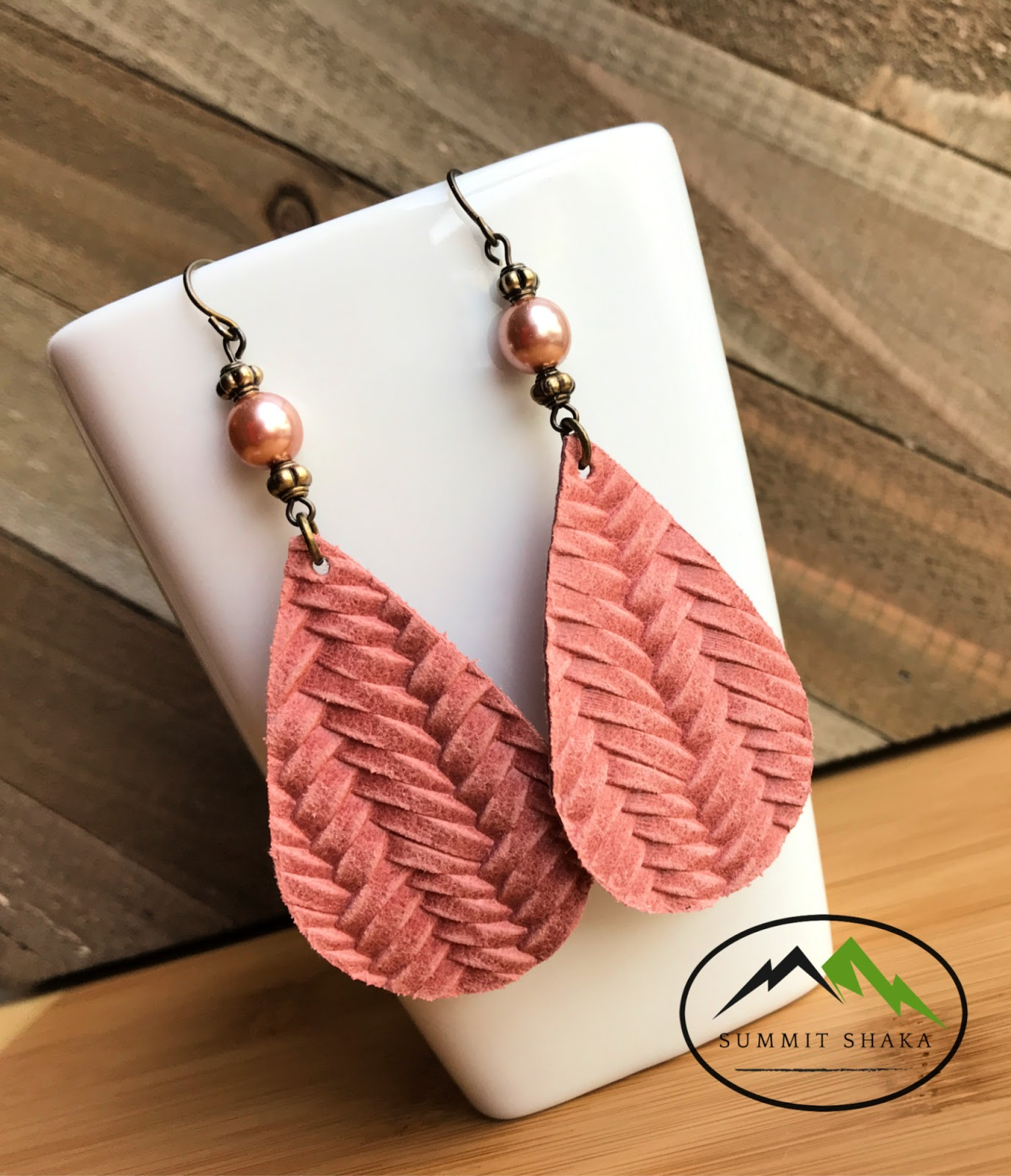 Leather Earrings by Summit Shaka