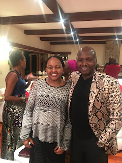 Ann Waiguru pose for a photo with her lawyer Kipkorir.