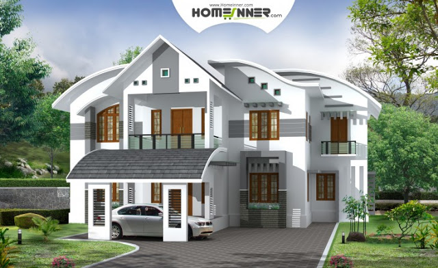 Contemporary Kerala Home Design 3828 Sq Ft 5 Bhk Indian
