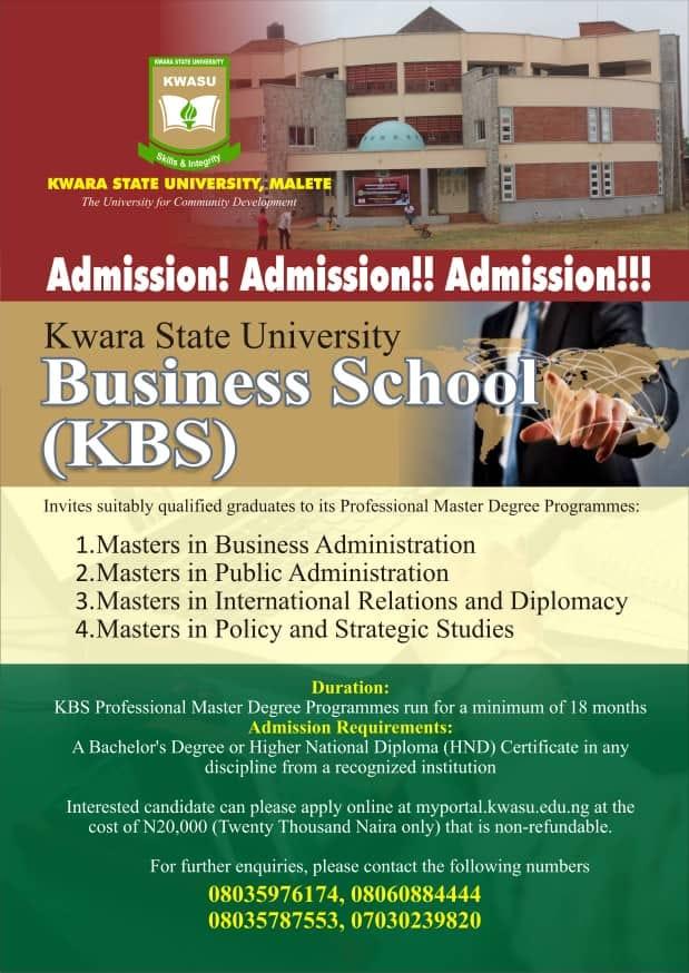 KWASU Business School (KBS) Form 2020/2021 [UPDATED]